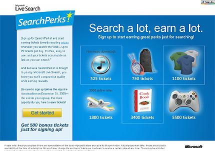 Live Search SearchPerks