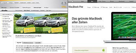 Umweltschutz bei Opel und Apple