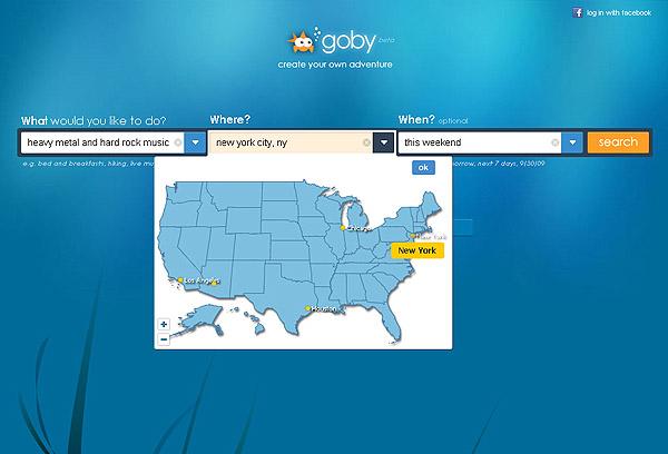 Goby Fun-Suchmaschine Startseite