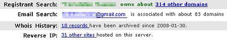 Whois Domain-Netzwerk