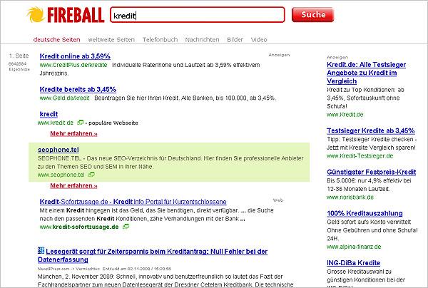 Suchergebnis Fireball zum Thema Kredit