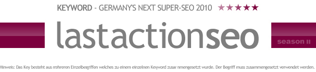 Germany's Next Super-SEO 2010 Keyword