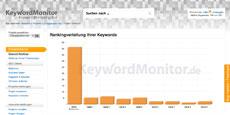 KeywordMonitor - Keyword Ranking Übersicht