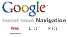 Google neue Navigation