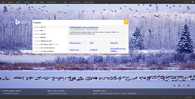 Bing Suggest Preview