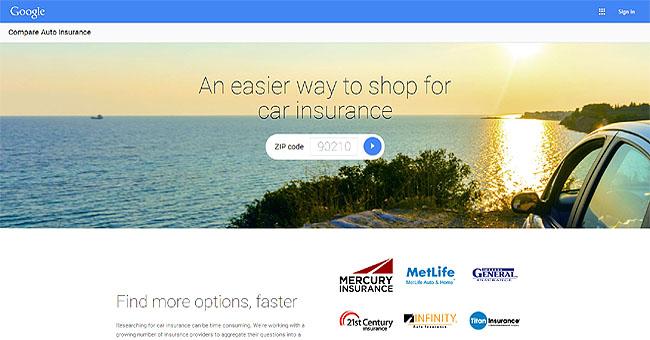 Google Compare Auto Insurance